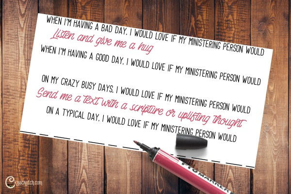 Great handout idea to discuss different ways we can minister #Ministering #LDS #Mormon