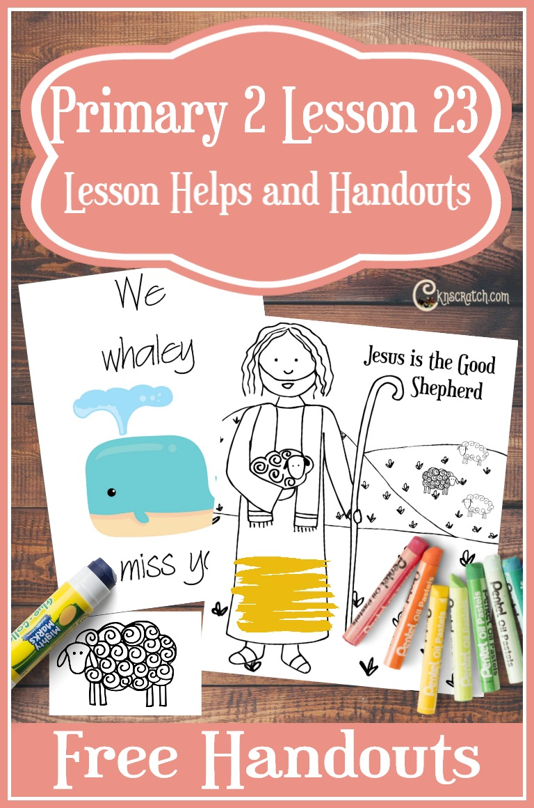 Great LDS handouts and helps for Primary 2 Lesson 23: Jesus Christ is the Good Shepherd #LDS #Mormon #LDSprimary