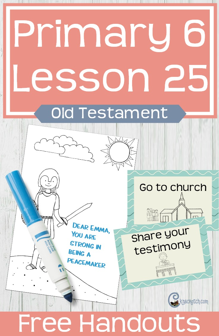 Great LDS helps for teaching about Samson (Primary 6 Lesson 25) #LDS #Mormon #LDSprimary