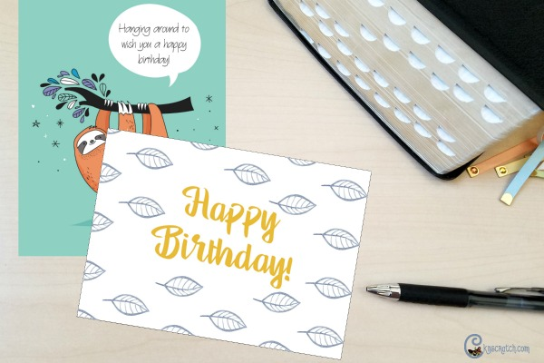 Free Happy Birthday printable cards!