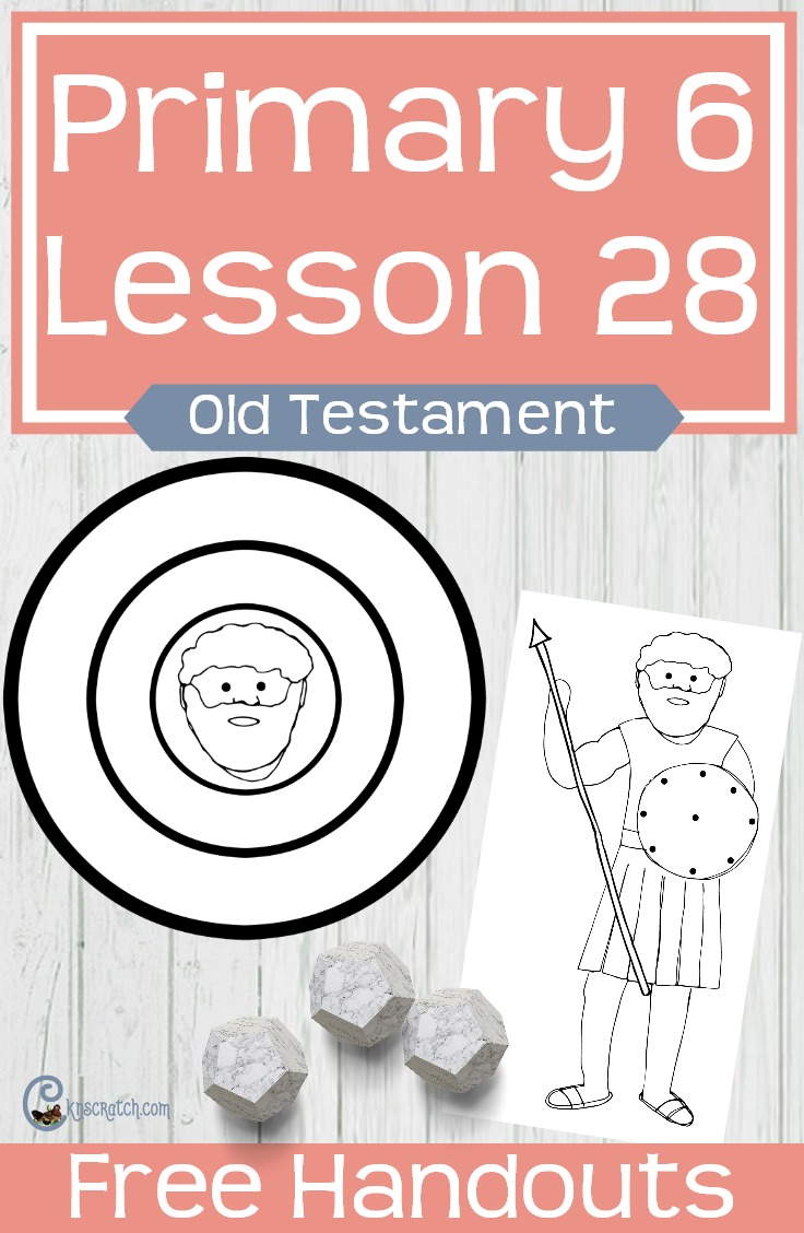 This would be a fun game to go with LDS Primary 6 Lesson 28: David and Goliath #LDS #Mormon #LDSprimary