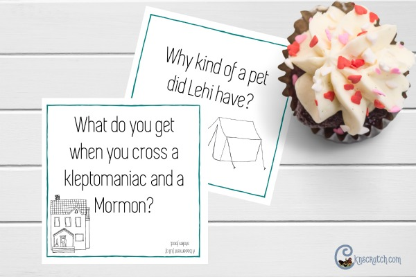 Lunch box notes with Mormon Jokes- love it! #LDS