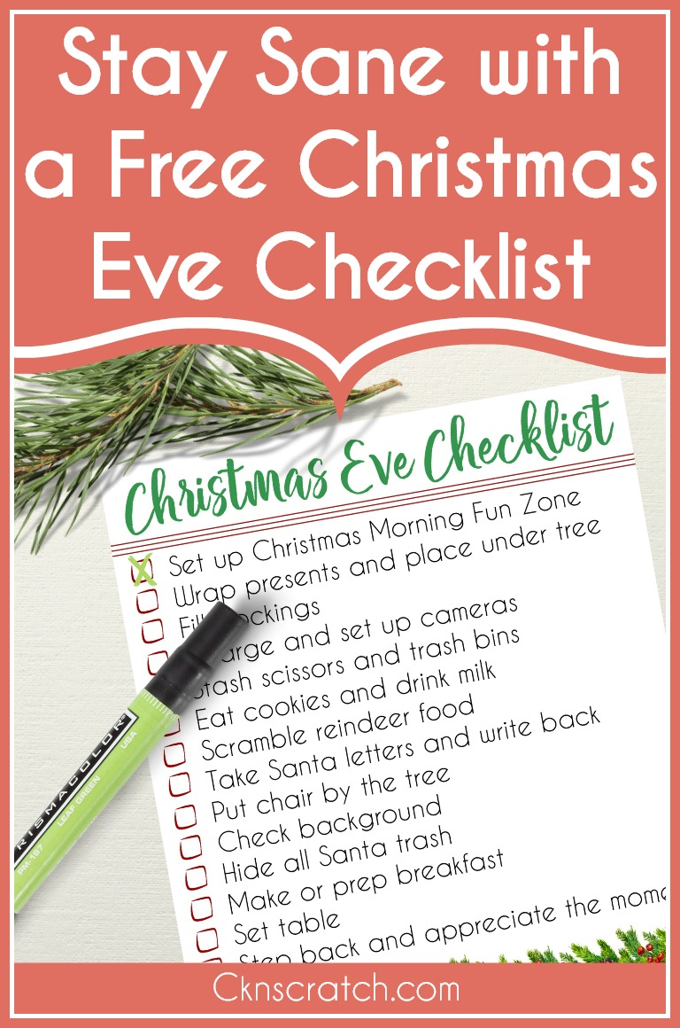 This is so helpful! I hate to forget something like Santa's cookies. #Christmas #freeprintable #Christmaschecklist #cknscratch