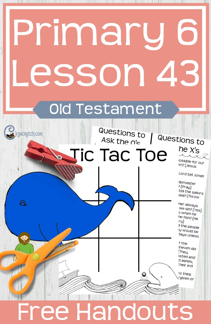 I love the Jonah and the whale craft plus the Tic Tac Toe- so fun! This site always has such great free LDS Primary handouts. #LDS #LDSprimary #Mormon