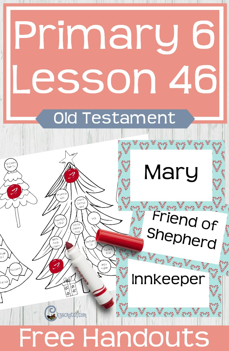 I love these ideas for teaching LDS Primary 6 Lesson 46: Prophets foretold the birth of Jesus Christ (Christmas lesson) #LDS #LDSprimary #freeprintable #Christmas