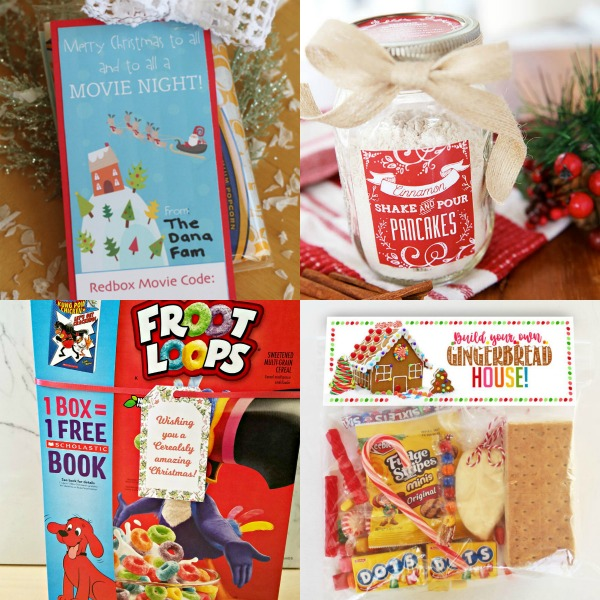 Oooo, love the pour pancake in a jar and gingerbread house ideas. So many great Christmas gift ideas and printable tags! #Christmas #gifttags