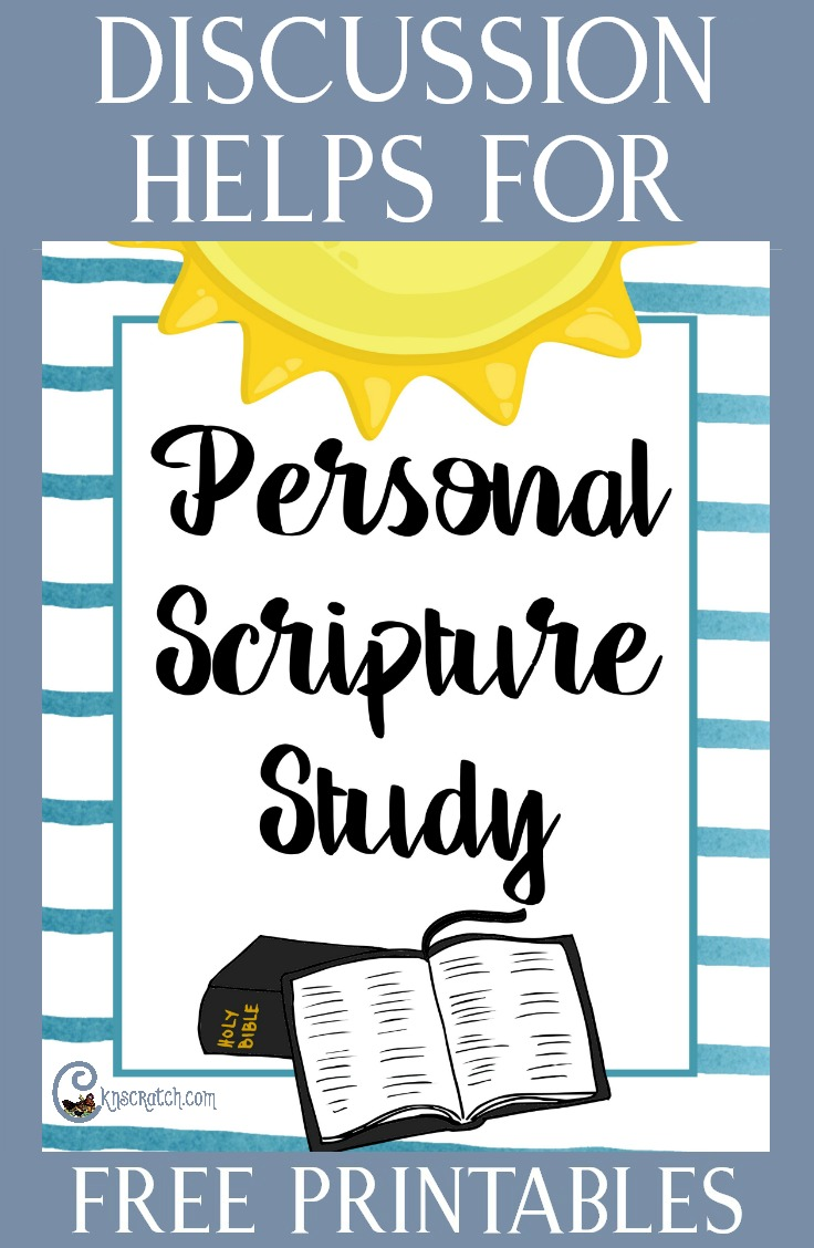 Great lesson ideas and helps for teaching about Personal Scripture Study. Love the free printable. #latterdaysaints #scripturestudy #4thSunday