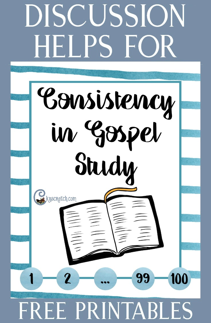 Great resource for teaching Consistency in Gospel Study for the 4th Sunday #latterdaysaints #ReliefSociety #2hourchurch