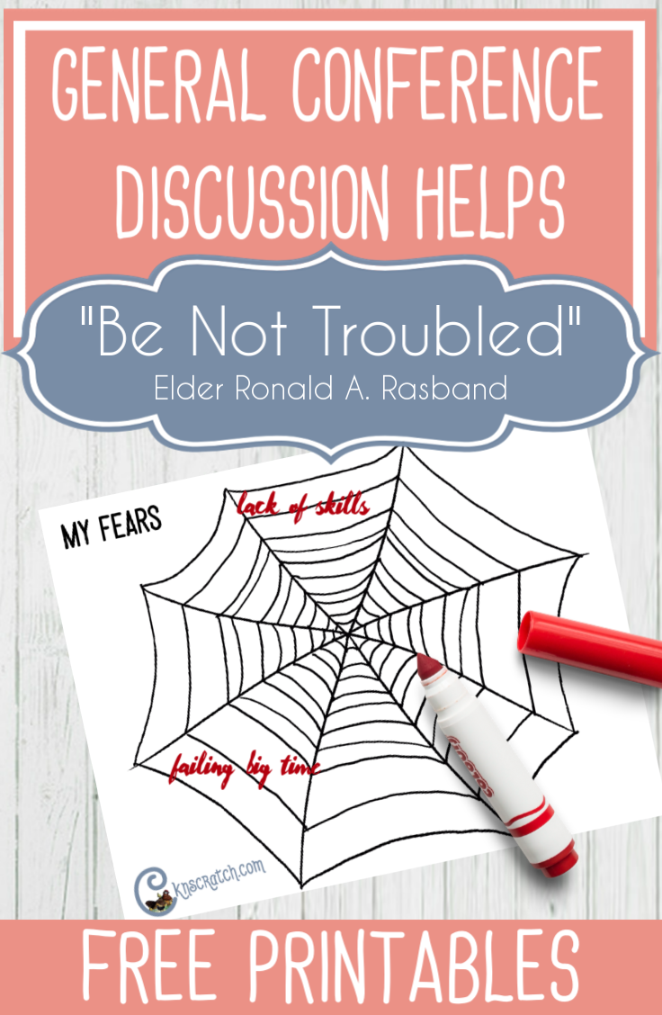 """Great helps for discussing """"Be Not Troubled"""" by Elder Ronald A. Rasband #GeneralConference #latterdaysaints"""