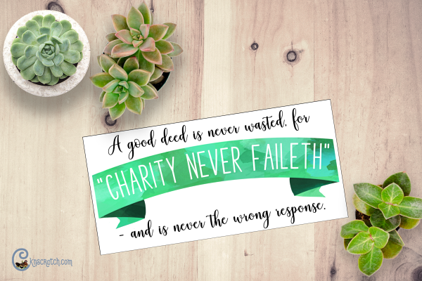 Love this reminder that good deeds are never wasted #bethegood #charityneverfaileth #ReliefSociety #GeneralConference