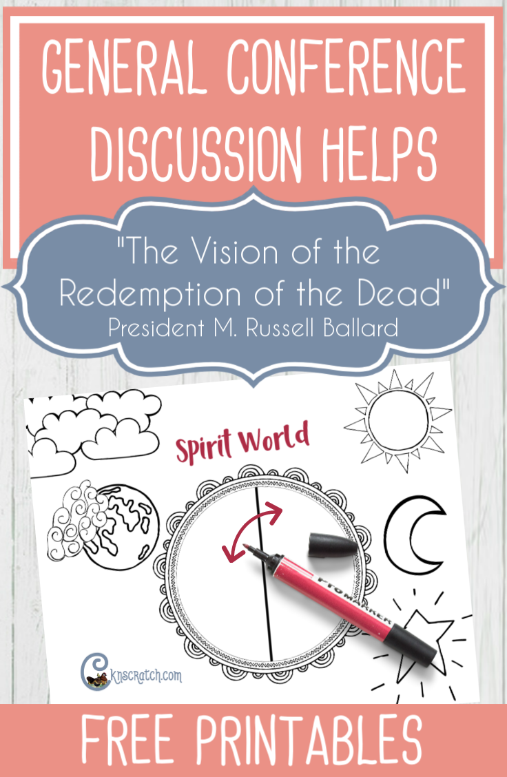 """Great discussion ideas to help discuss President M. Russell Ballard's talk, """"The Redemption of the Dead"""" #GeneralConference #latterdaysaints"""