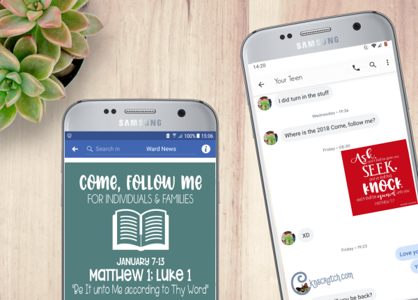 I love these! Textables that you can send to your family or use in a weekly newsletter that go with the New Testament Come, Follow Me readings! #LatterdaySaint