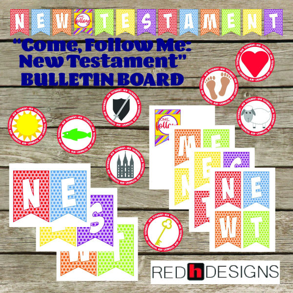 New Testament bulletin board kit from Red H Designs