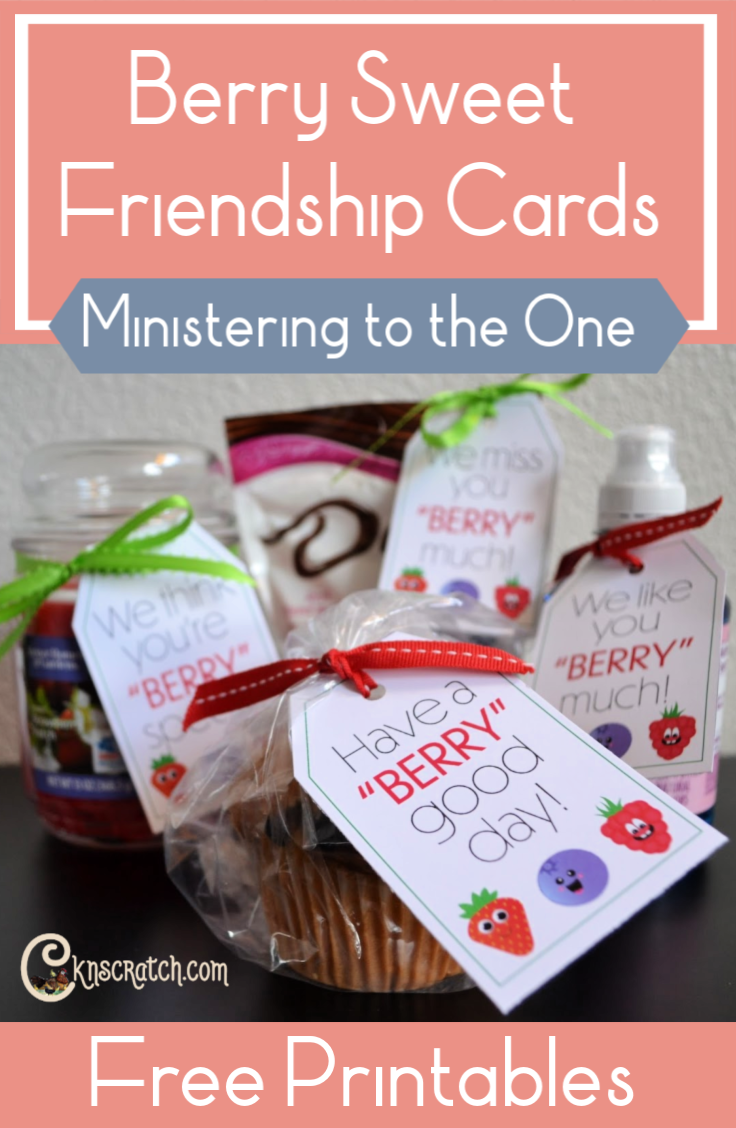 Such a great idea! Berry Sweet Friendship Cards to help you minister to the one. These would be great in Primary or Relief Society! #LatterdaySaint