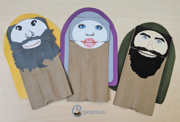 These are so great! Puppets for Mary, Joseph, Angel Gabriel, Zacharias, and Elisabeth #NewTestament #Bible #2019ComeFollowMe #LatterdaySaint