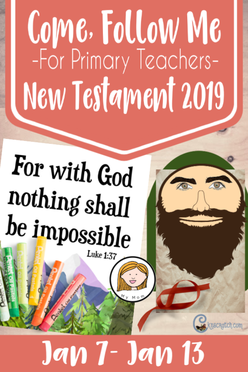 "So helpful! All kinds of free printables and ideas for teaching ""Be It Unto Me according to They Word"" Matthew 1; Luke 1 (Jan 7-13) for Primary Teachers. #2019ComeFollowMe #LatterdaySaints"