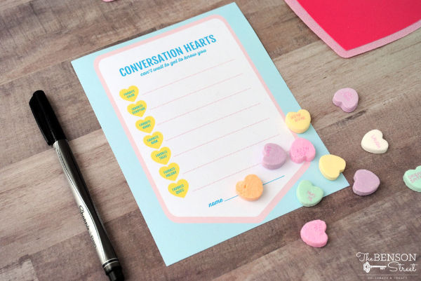 Such a great idea! A Valentine Get to Know You printable for ministering! #LatterdaySaint #LDS