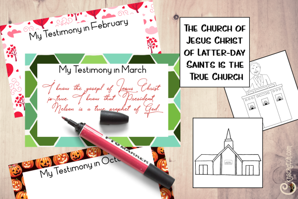 Love the idea of making a year of testimony book plus a matching game for the kids