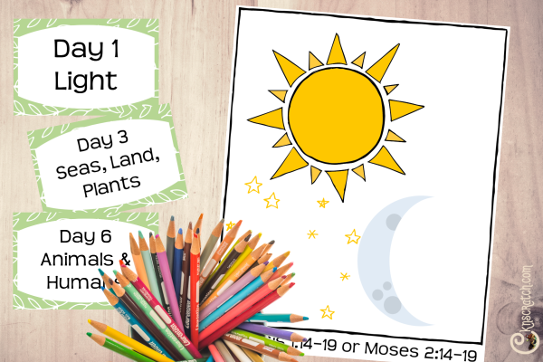 Great free handouts to discuss the creation and other points in Primary (John 1)