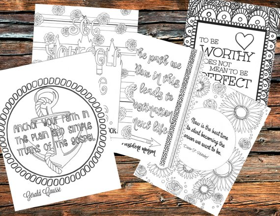 Great General Conference quote coloring pages by Essence of Ink