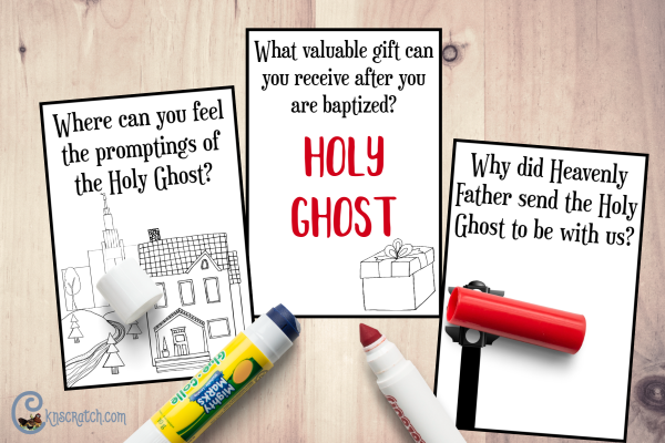 Great little flip book to talk about the Holy Ghost #teachlikeachicken