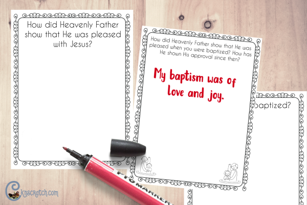 Great flip book to discuss baptism as you learn about Christ's baptism #teachlikeachicken
