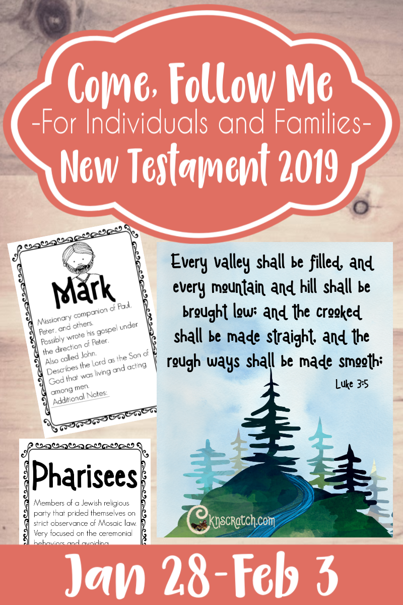 Great ideas, study helps and free handouts for Come, Follow Me New Testament Jan 28-Feb 3 #teachlikeachicken #LDS