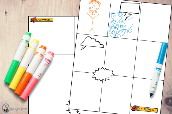 I love this idea for getting the kids learning the scripture stories- draw their own version using these free comic book templates #teachlikeachicken