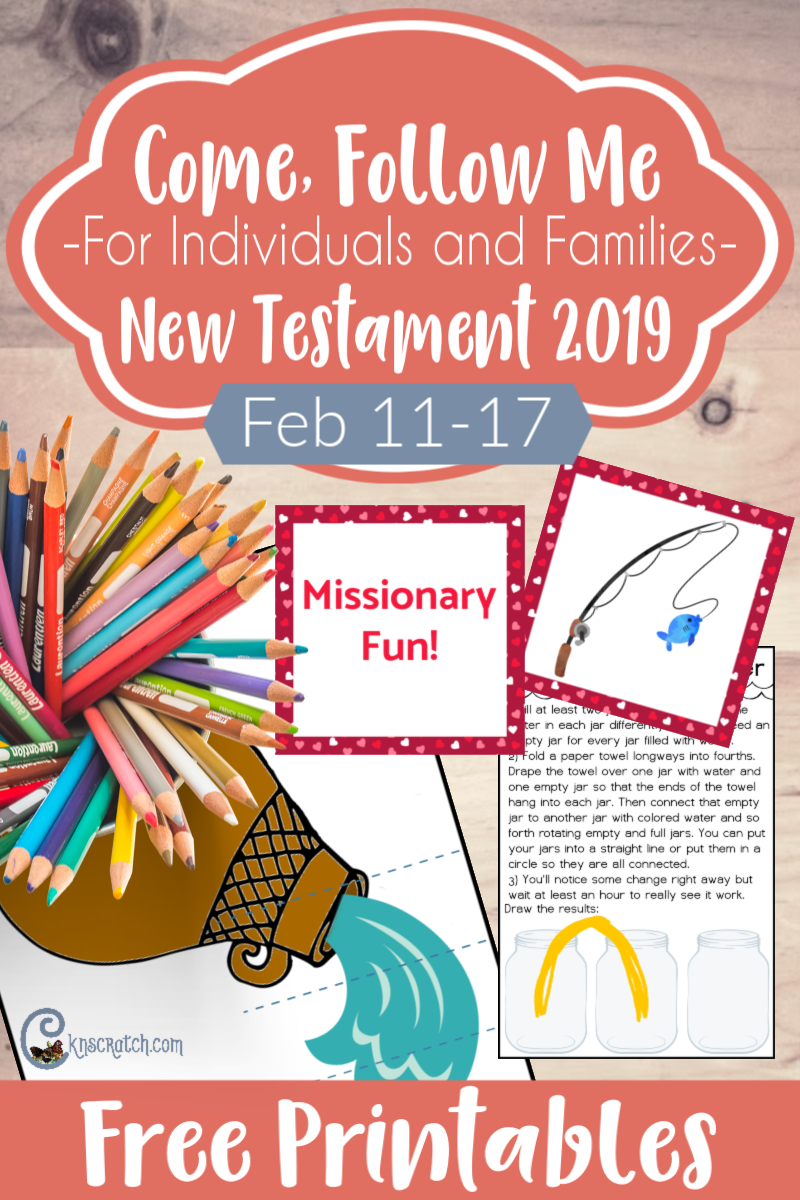 graphic about Free Printable Missionary Stories identify John 2-4 \