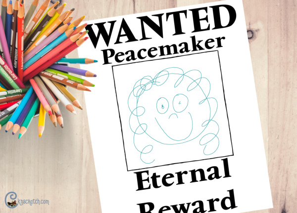 Make your own wanted posters as you discuss being a peacemaker and the beatitudes #teachlikeachicken