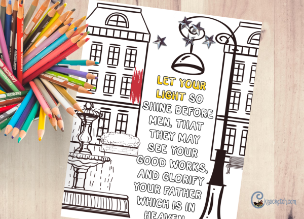 Let your light shine coloring page! #teachlikeachicken