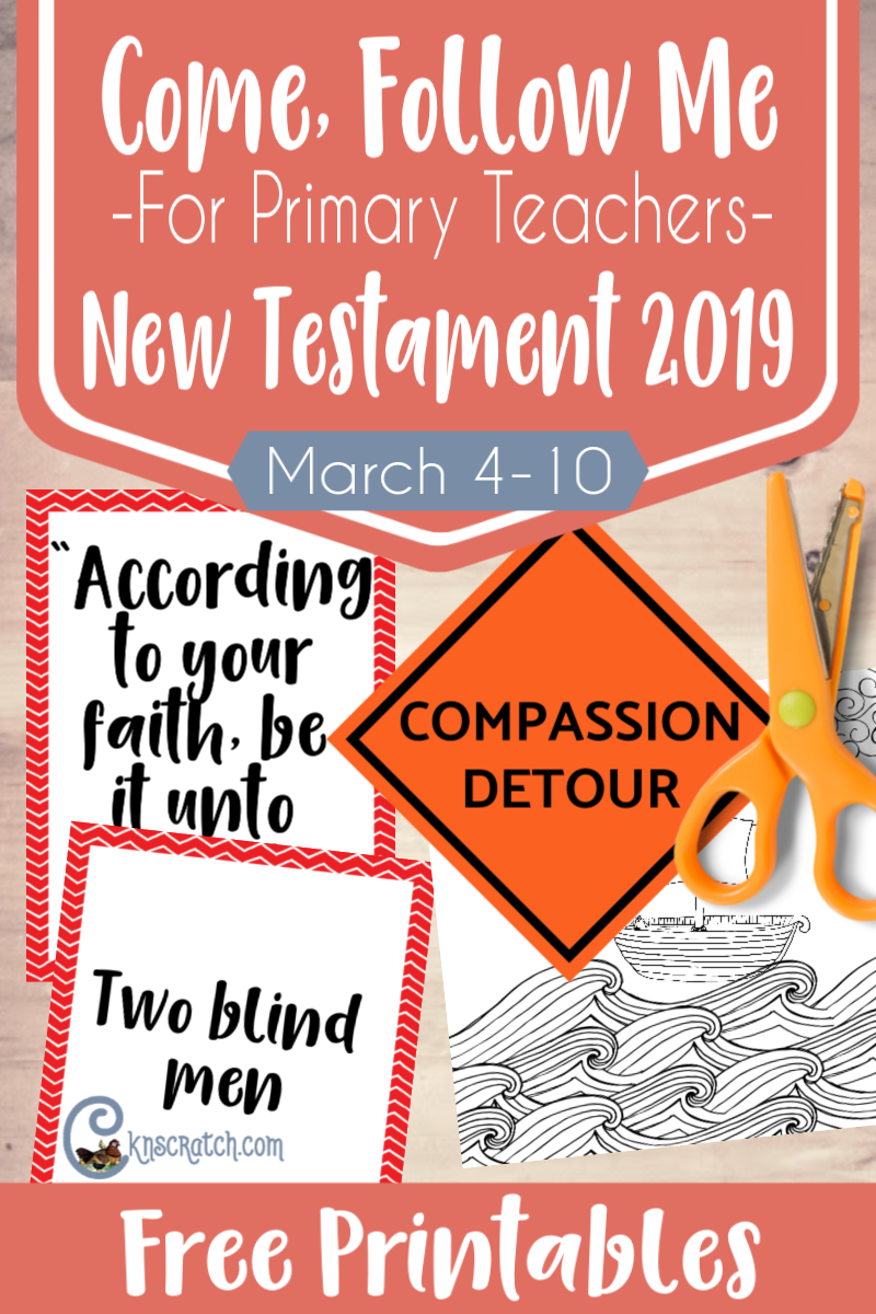 Oh I love the Compassion Detour sign to use as we discuss some of the healings Christ performed #teachlikeachicken #freeprintable
