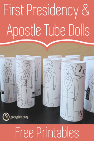 Members of the First Presidency and Quorum of the Twelve Apostles Tube Dolls