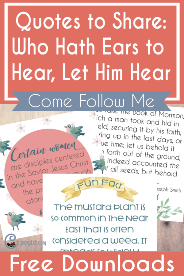 quotes to share who hath ears to hear let him hear chicken