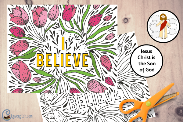Love this coloring page and spy glass activity to talk about having a testimony #comefollowme #teachlikeachicken