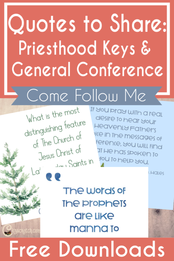 Great quotes to share with your family as you gear up for General Conference! #teachlikeachicken