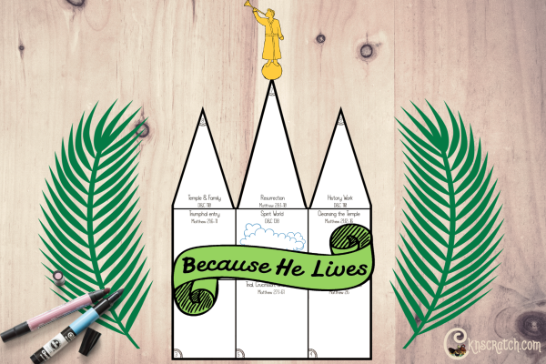 LOVE this idea for Easter- highlighting events from Christ's life and ending with a discussion on the temple #teachlikeachicken #comefollowme #LDS
