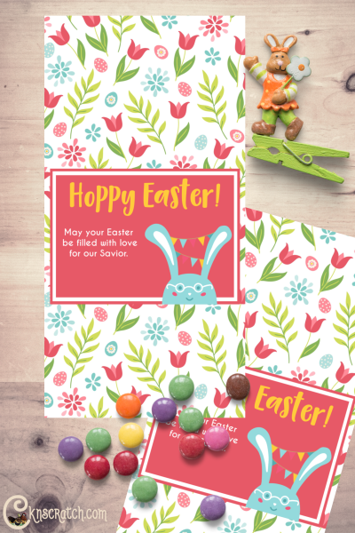 """""""Hoppy Easter"""" candy wrapper. Love this free printable and that includes the Savior. #teachlikeachicken #HappyEaster #LDS"""