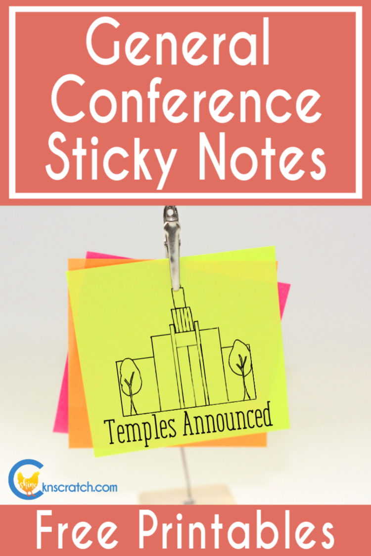 General Conference Helps — Chicken Scratch N Sniff