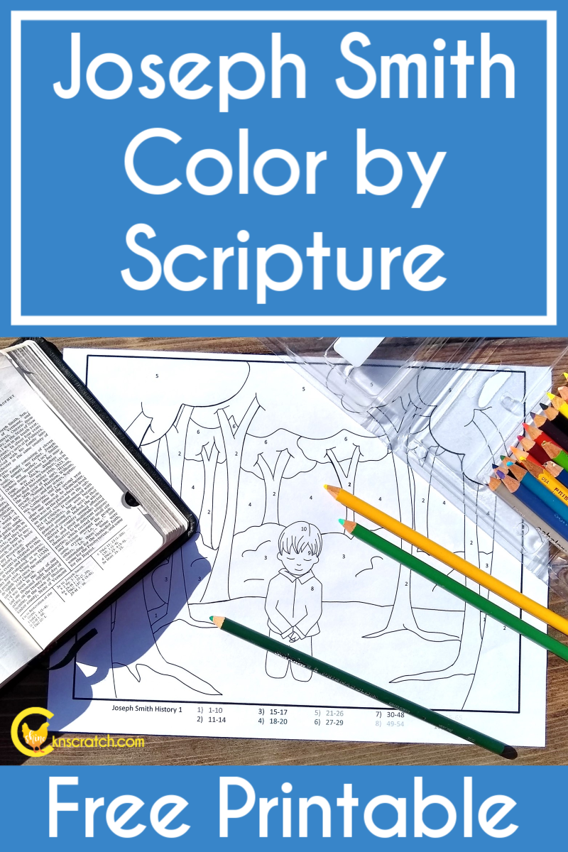Joseph Smith Color By Scripture Chicken Scratch N Sniff