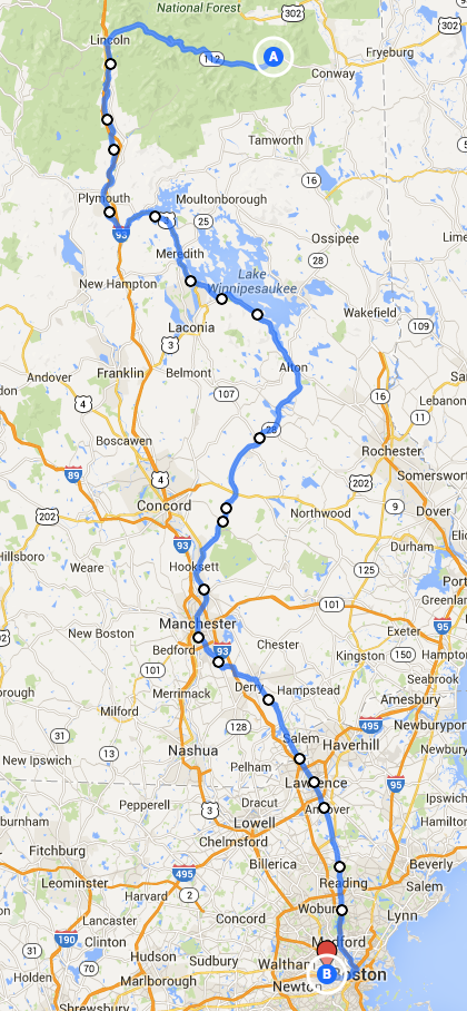 Day 2 - 186 miles South