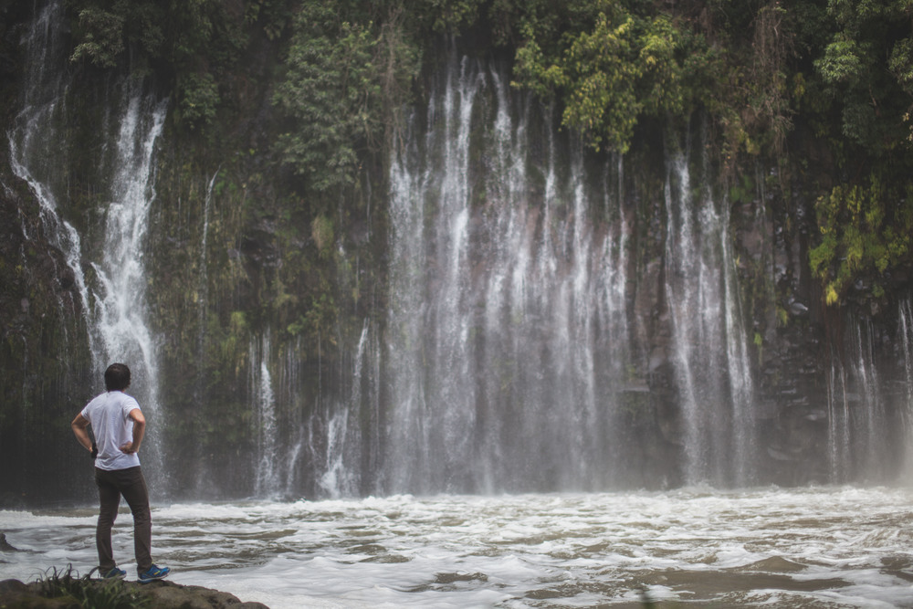 Byron watching the falls at Cascada de la Tzararacua – Uruapan, Michoacan, Mexico