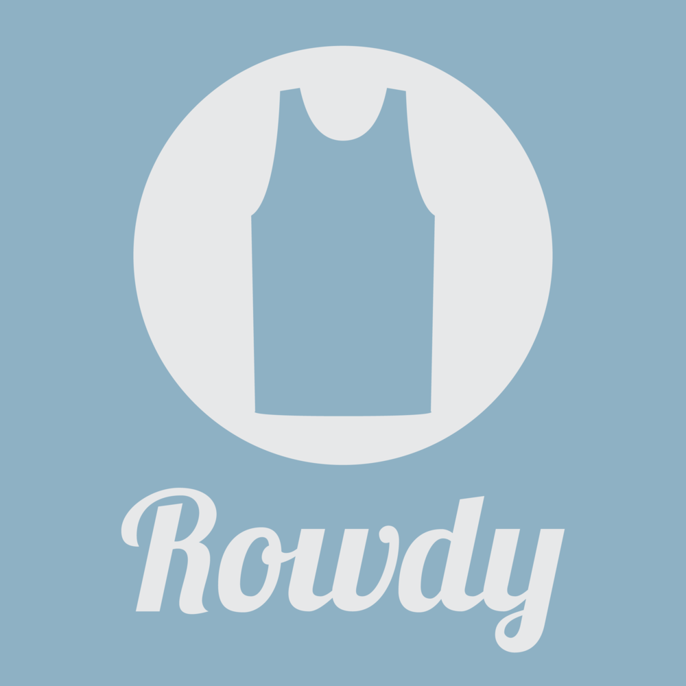 Rowdy Material - Logo and color ways for a small batch clothing company.  Seem More