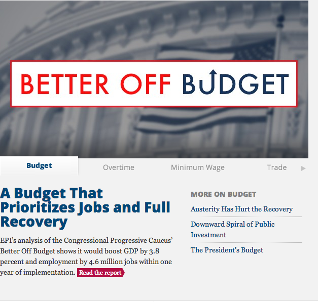 A Budget That Prioritizes Jobs and Full Recovery -Joshua Smith Economic Policy Institute