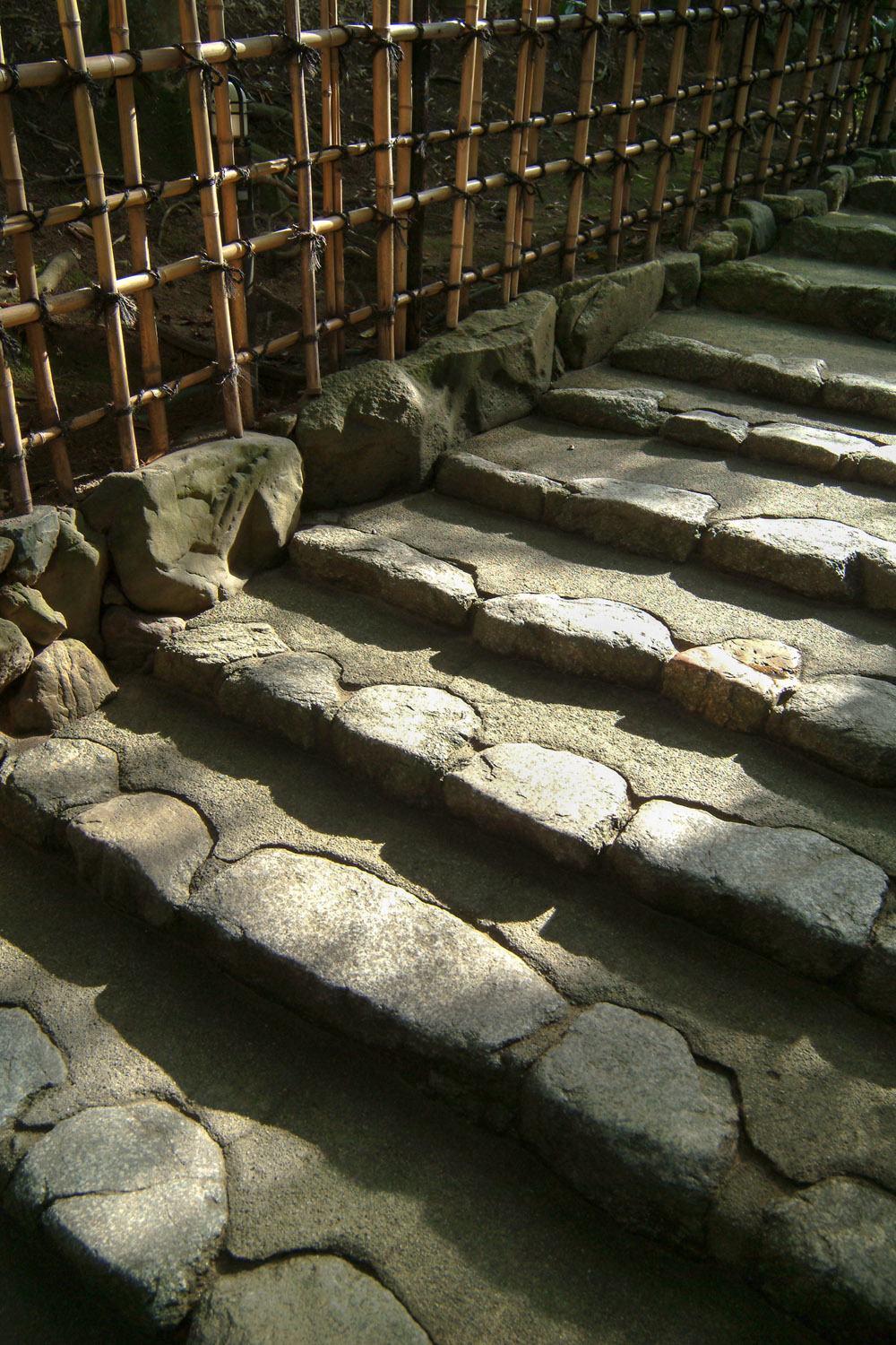 Steps on a pathway at Shishendo Temple