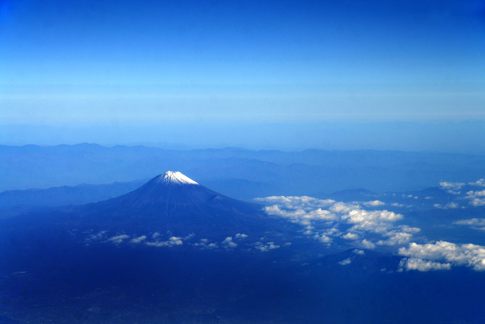 Aerial view of Mount Fuji