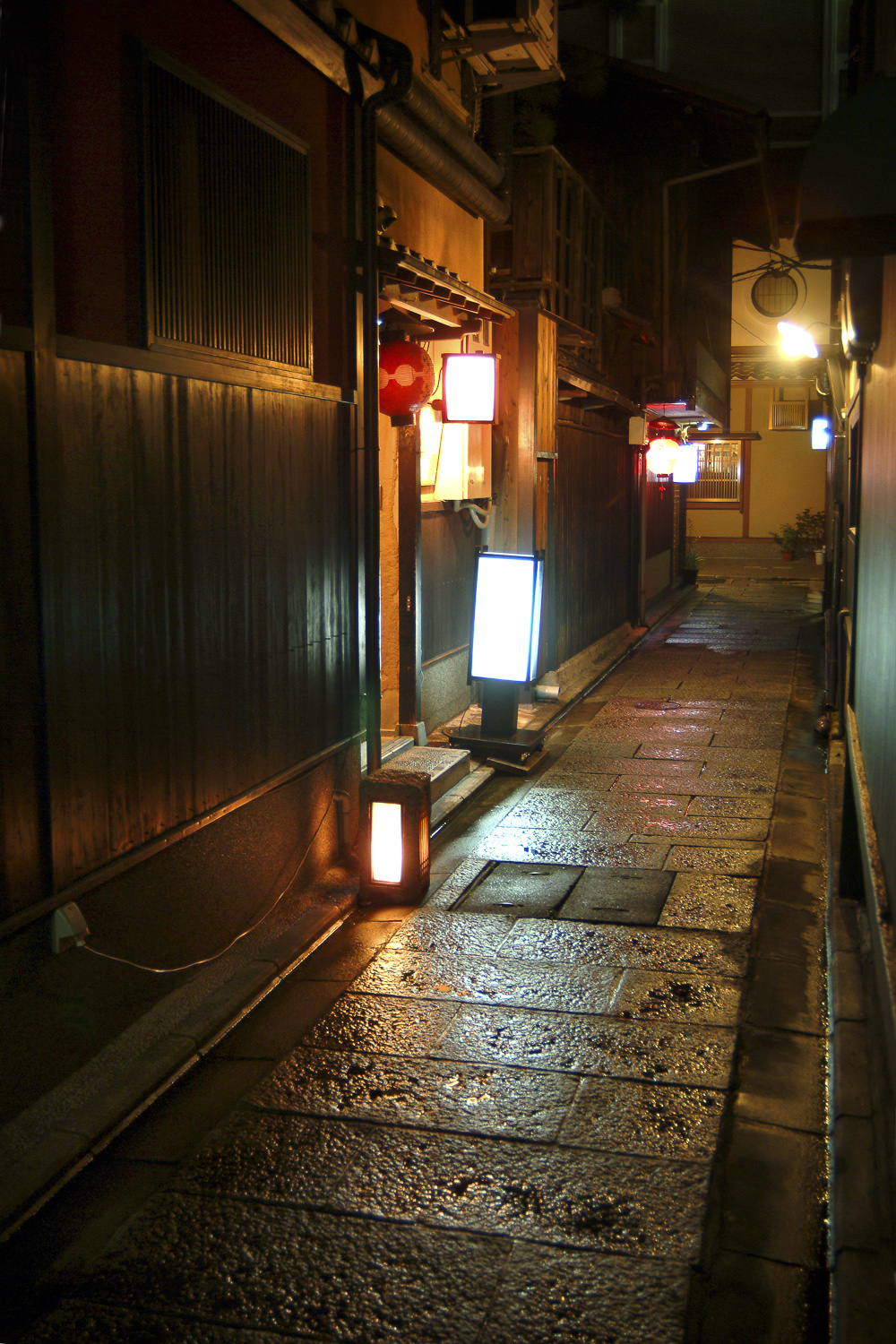 Alleyway in Gion at night