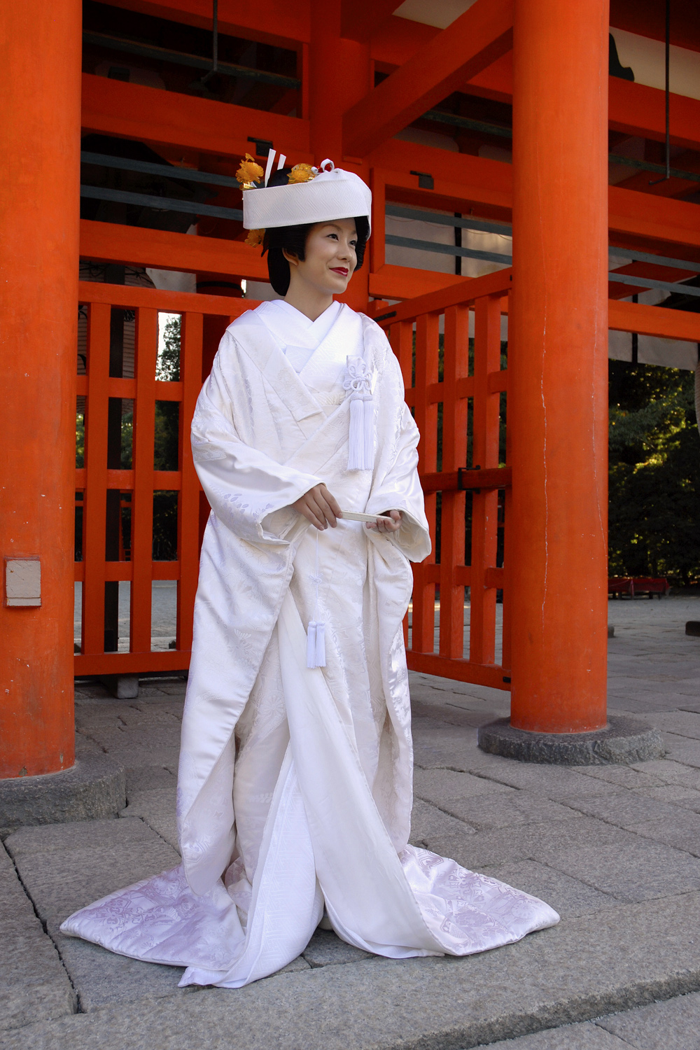 Bride at a shrine
