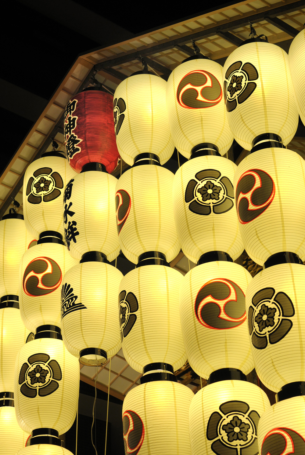 Lanterns at the Gion Matsuri