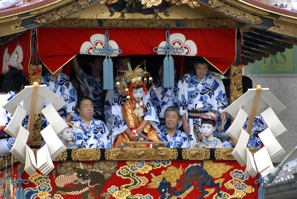 Hoko float in the Gion Matsuri parade